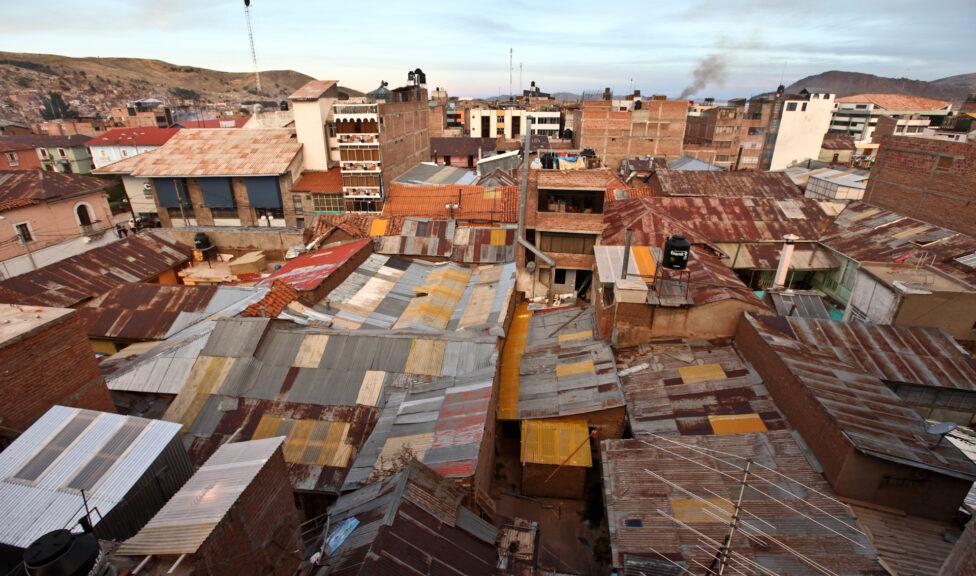Urban city scape in Latin America